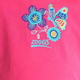 Zoggs Wild Maglietta anti UV con zip Ragazza, pink/multi